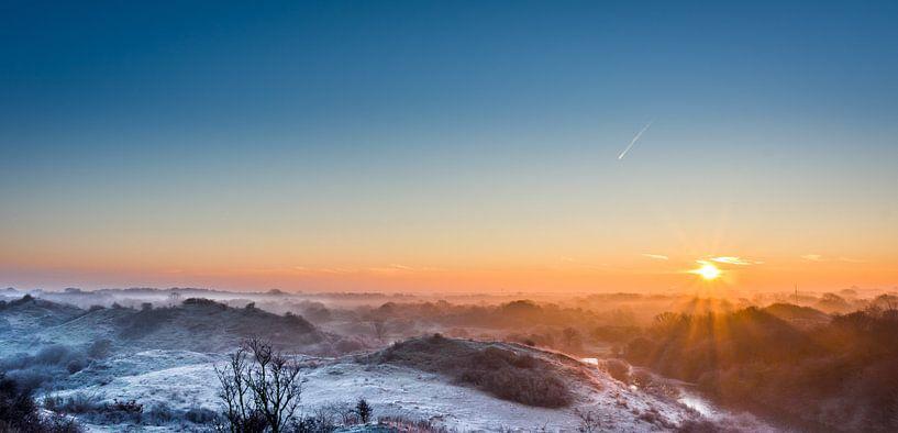 Landschap winter van peter van der pol