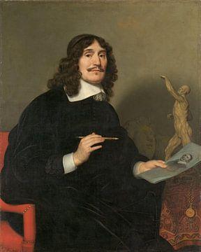 Portret van een kunstenaar, Gerard van Honthorst, 1655