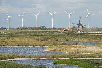 Oude en nieuwe molens in Noord Holland