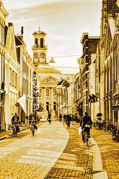 Rathaus von Dordrecht Niederlande Gold von Hendrik-Jan Kornelis
