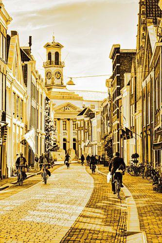 Stadhuis van Dordrecht Nederland Goud