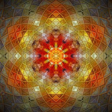 Leuchtendes Mandala von Sabine Wagner