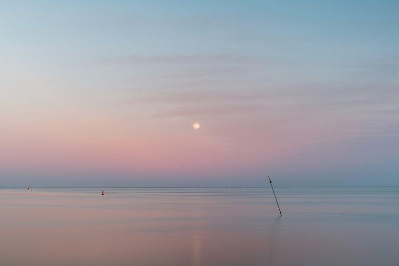 Maan boven de zee van HANS VAN DAM