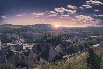 Een cityscape van Valkenburg van