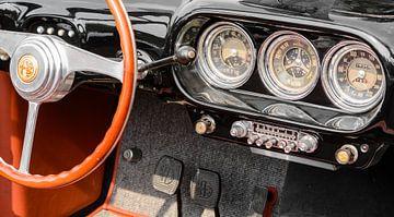 Dashboard auf einem 1955 Alfa Romeo 1900 C Cabrio von Touring von Sjoerd van der Wal