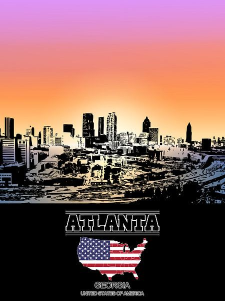Atlanta van Printed Artings