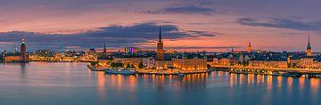 Panorama-Sonnenuntergang in Stockholm