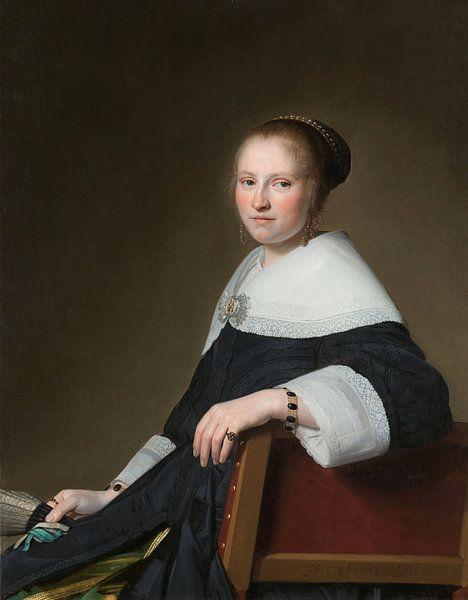 Portret van Maria van Strijp, Johannes Cornelisz. Verspronck van Meesterlijcke Meesters