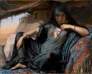 Weibliche Topfverkäuferin in Gizeh - Elisabeth Jerichau-Baumann, 1876-78