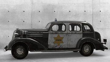 Polizeiauto am Park von H.m. Soetens