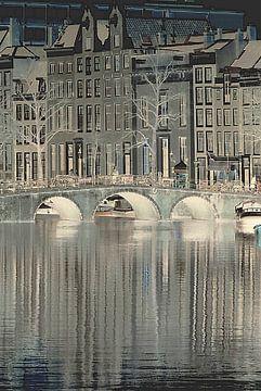 Herengracht Amsterdam Wasserspiegelung von Marianna Pobedimova