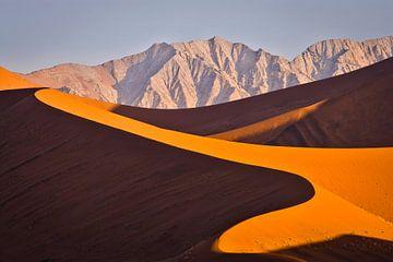 Landschaft mit roten Sanddünen in der Namibischen Wüste von Chris Stenger
