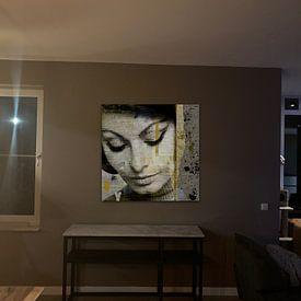 Klantfoto: Sophia Loren van Mirjam Duizendstra, op canvas