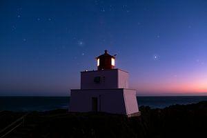 Amphitrite Point Lighthouse, Ucluelet, British Columbia, Canada van Colin Bax