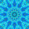 Mandala blauw 9 van Marion Tenbergen thumbnail
