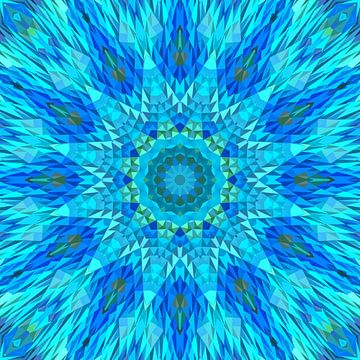 Mandala blauw 9 van Marion Tenbergen