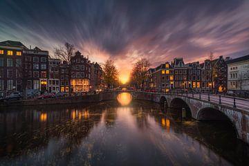 Amsterdam Prinsengracht Le Soir sur Albert Dros