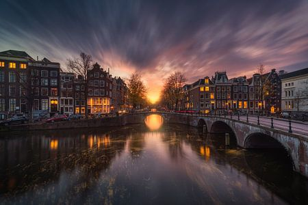 Amsterdam Prinsengracht Abend
