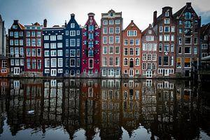 Bunte Kanalhäuser im Zentrum von Amsterdam von Heleen Pennings