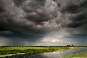 Noodweer in de polder