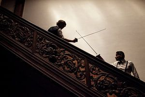 14 - Fencing Met gekruiste degens in de schaduw