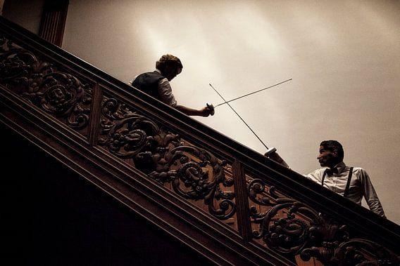 14 - Fencing Met gekruiste degens in de schaduw van Irene Hoekstra