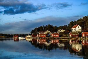 Bootshaus Schweden an der Nordsee