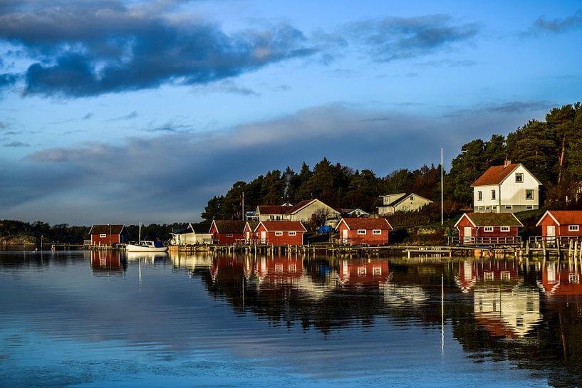 Bootshaus Schweden an der Nordsee von Sander Hekkema