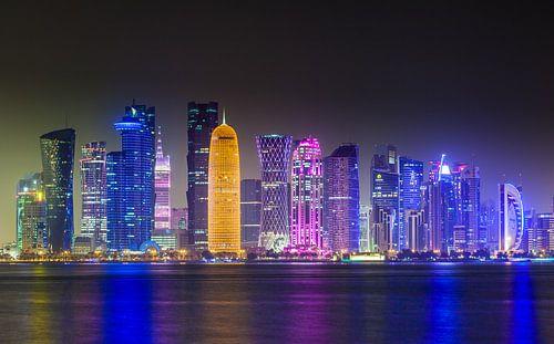 Skyline of Doha, Qatar van