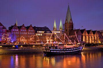 Bremen bei Nacht, Deutschland von Adelheid Smitt