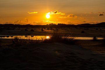Sonnenuntergang überm Kniepsand van