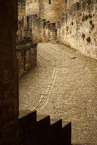 Steps of Carcassone, medieval city