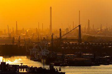 Shell en Heijplaat te Rotterdam van Anton de Zeeuw