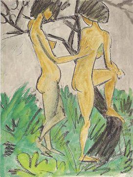 Zwei Akte im Freien, Otto Mueller - 1918-1923 von Atelier Liesjes