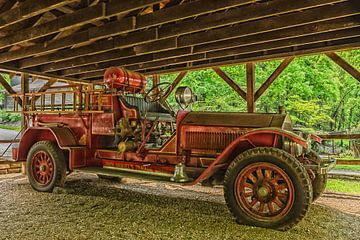oldtimer brandweer wagen van Frank van Middelkoop