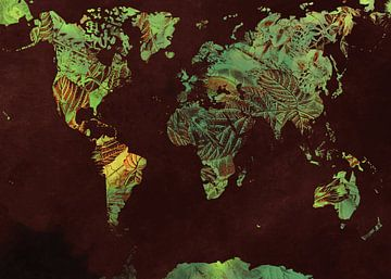 Wereldkaart 42 #kaart #wereldkaart van JBJart Justyna Jaszke
