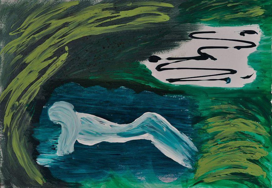 Vrouw in Water van Jose Beumers