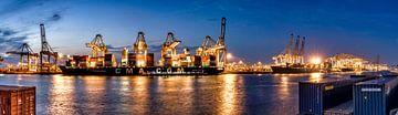Navires déchargeant au port de Rotterdam - port Amazone sur Rene Siebring