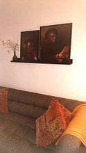Kundenfoto: Mädchen im Bilderrahmen - Rembrandt van Rijn, als gerahmtes poster