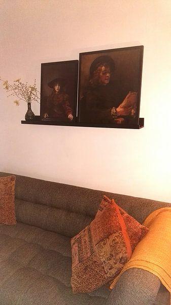 Kundenfoto: Mädchen im Bilderrahmen - Rembrandt van Rijn, auf gerahmtes poster