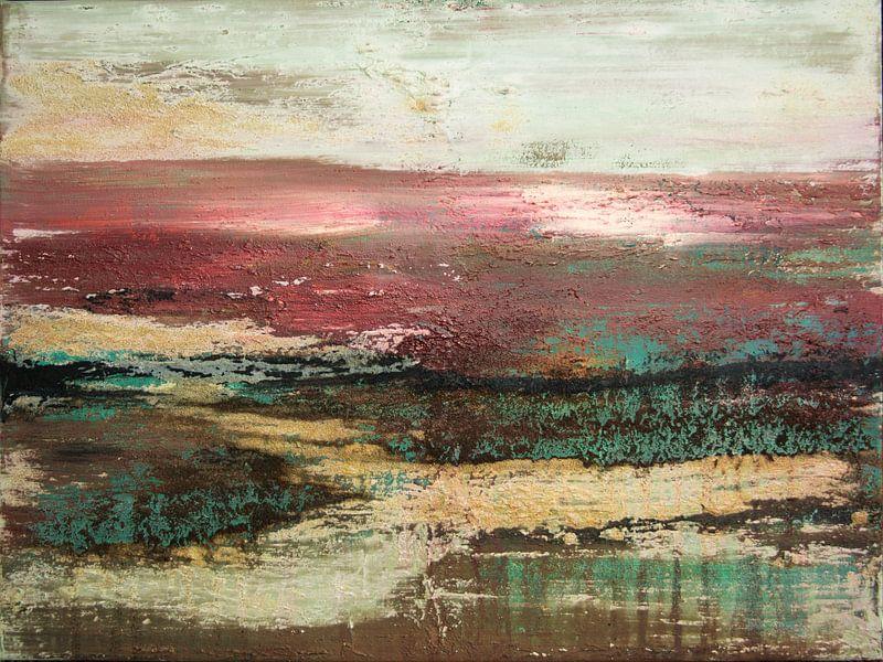 Roter Himmel 03 von Willie Roosenbrand Art