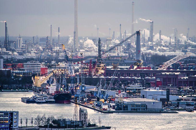Onder de rook van Rotterdam van Frans Blok