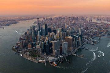 La ville de New York vue d'en haut sur Thomas Bartelds