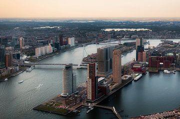 Rotterdam vanuit de hoogte van