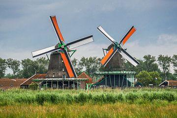 Mühlen mit Sommersegel, Zaanse Schans von Peet Romijn
