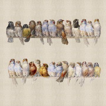 Eine Vogelstange, Hector Giacomelli (quadratisch)