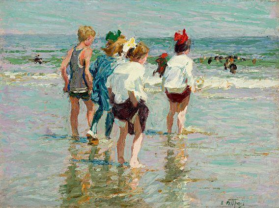 Zomerdag in Brighton, Edward Henry Potthast - ca.1880
