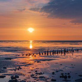 Das Wattenmeer bei Eemshaven von Marga Vroom