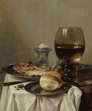 Stilleven met een zoutvat, Pieter Claesz. van