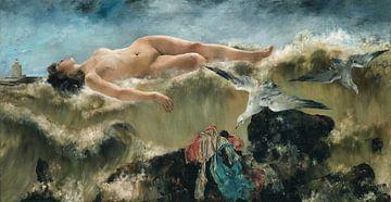 Weiblicher Akt (eine politische Allegorie), 1885 von Atelier Liesjes